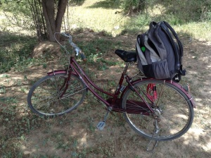 The rickety bike I practically destroyed in a full day's cycling