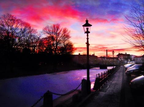 scandinavian winter sky