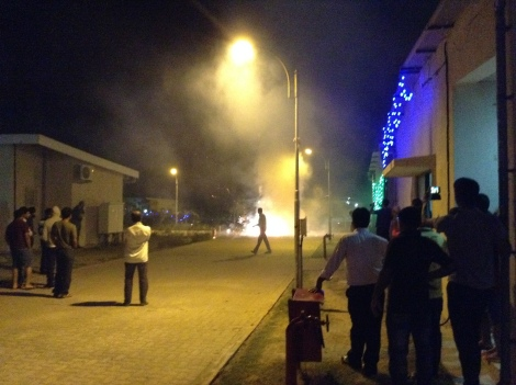 Dangerous fireworks in India