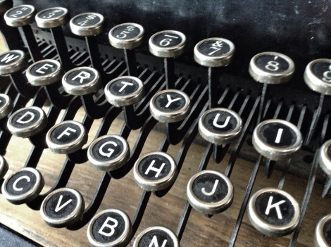 Old fashioned typrewriter