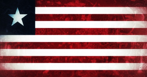 Liberian Flag Distressed